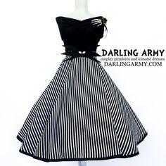 Jack Skellington DIsneybound Dapper Days Vintage Pinup Circle Skirt | Darling Army