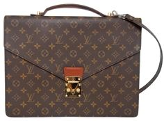 Louis Vuitton Porte Documents Senateur Briefcase Hand Laptop Bag. Carry your laptop in style! The Louis Vuitton Porte Documents Senateur Briefcase Hand Laptop Bag is a top 10 member favorite on Tradesy. Save on yours before they're sold out!