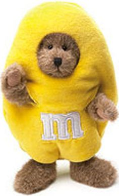 M Candy Characters | Boyds Candy Peeker Yellow M & M Plush Teddy Bear - (introduced Fall of ...