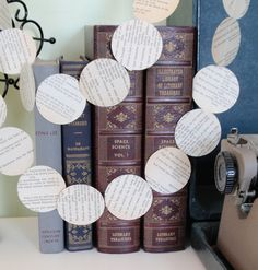 Trim your tree or add some literary charm to your decor with this poetry paper garland spotting snippets of classic American poetry by Walt Whitman.