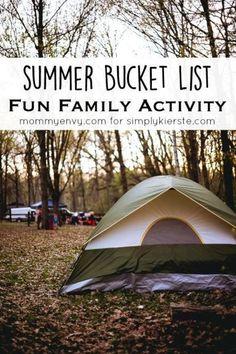 Summer Bucket List Fun Family Activities