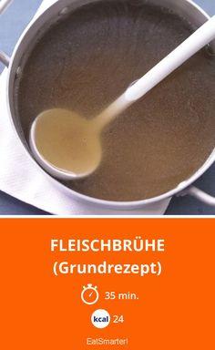 Fleischbrühe - (Grundrezept) - smarter - Kalorien: 24 Kcal - Zeit: 35 Min. | eatsmarter.de