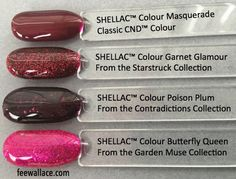 shellac garnet glamour compared to other similar shellac colours by fee wallace