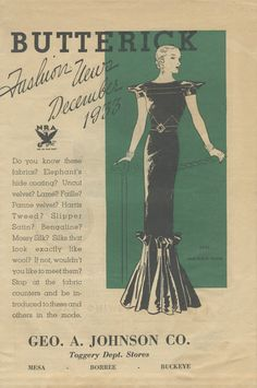 Butterick Fashion News booklet December 1933 in by NewVintageLady