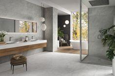 Cemento - Diseños - Hazlo con Cerámicos Bathroom, Cement, Washroom, Full Bath, Bath, Bathrooms