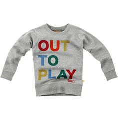 out to play kids sweatshirt