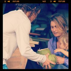 Happy belated Mother's Day to all of the rad moms out there. Thank you for nurturing us and opening our eyes to the world. Photo: Belinda Baggs shares fresh coconut milk with her son Rayson during a surf trip to the Philippines. More at http://ontheroadwithrayson.tumblr.com/