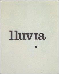 «Poema de la lluvia» (1994), de Felipe Boso. Forma parte del libro «Poemas concretos».