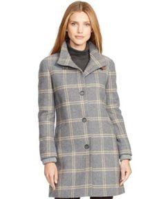 Lauren Ralph Lauren Plaid Button-Front Coat