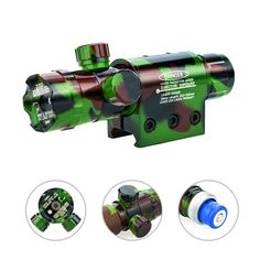 Lirisy Green Laser Sight, Camo Design 532nm Adjusted Hunting Rifle Green Dot Sight Laser Tactical Rail / Scope Barrel Mount -- Awesome products selected by Anna Churchill