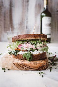 ... garden greens sandwich with green goddess dressing ...