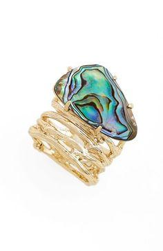 3894f9296 Kendra Scott 'Cora' Shell Ring available at #Nordstrom Abalone Shell,  Kendra Scott