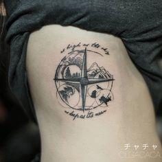 #mulpix Compass Tattoo