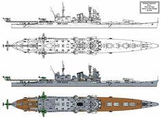 Tone Kai type Heavy Cruiser by Tzoli on DeviantArt Military Weapons, Military Art, Military Aircraft, New Battleship, Heavy Cruiser, Imperial Japanese Navy, Spaceship Design, Naval History