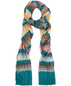 colours for inspiration:  Turquoise Wave Knit Scarf, Missoni Accessories. Shop the latest scarves from the Missoni Accessories collection online at Liberty.co.uk