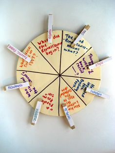 Try this DIY notecard + clothespin wheel to help your children study + become more independent!