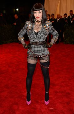 Madonna @ Met Gala 2013: I love the top half, but it looks as though she forgot to put on the rest of her ensemble