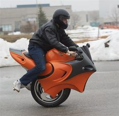 Uno, the one wheel motorcycle. Check out the videos at: http://gogreenstaygreen.com/products/uno-one-wheel-electric-motorcycle-unicycle/