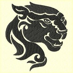 Wild Panther Machine Embroidery Design Single
