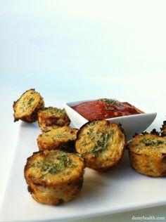 Afternoon Snack Recipe: Cauliflower Pizza Bites : Vitamin G: Health & Fitness: glamour.com