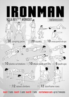 Ironman Superhero High Burn & Core Strength Workout