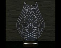 Home & Living, Lighting, Lamps,  Desk Lamps, 3D LED Lamp, Acrylic Lamp, Decorative Lamp, Home Accessories, Plexiglass Lamp, Home Decor, Amazing Effect, Ramadan Lights, Calming Light, Islamic Decor, Islamic Art, Muslim Art, Arabic Writing