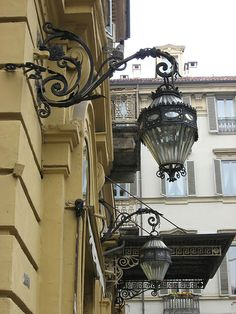 Old lamps - Turin, Italy, Piemonte