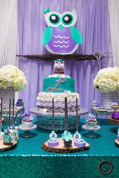 Owl Theme Baby Shower Party Ideas | Photo 1 of 79