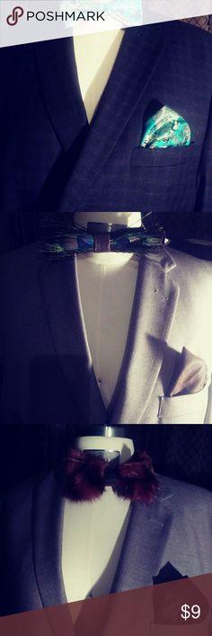 Mens bow ties hankies All colors men custom made Accessories
