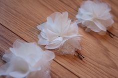Cute homemade hair pom pins for a cute look--or perhaps instead of bobbypin to dress up shoes for added cuteness :)
