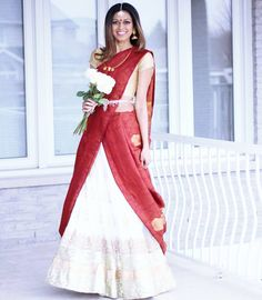 Because sometimes you want to do all your fav bridal looks and get married again (to the same guy ofc!) ❤ ❤ I have been so inspired by all… Drape Sarees, Saree Draping Styles, Saree Styles, Blouse Styles, Blouse Designs, Lehanga Saree, Saree Dress, I Dress, Indian Attire