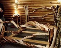 twisted juniper bed, would be gorgeous with a fluffy mattress and plush bedding