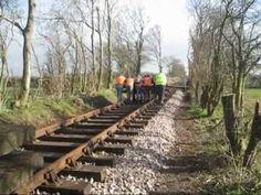 Track laying on the Mountsorrel Railway