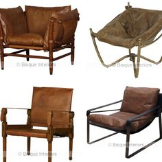 """1ero. Derecha♥♥  """"Some of my favourite Bisque tan leather occasional chairs www.bisqueinteriors.com.au for wholesale  www.brauerbirds.com.au for retail…"""""""