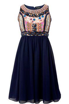 fluro embellished dress.