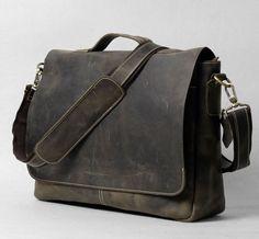 """Handmade Vintage Leather Briefcase / Leather Messenger Bag / 13"""" 15"""" MacBook 13"""" 14"""" 15"""" Laptop Bag f25"""