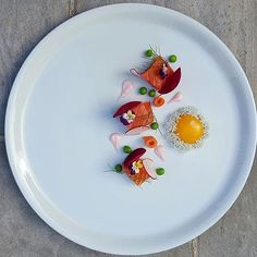 Atlantic salmon, pickled beetroot, radish, carrot, pea, ginger mayonnaise and…
