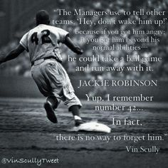 Vin Scully on Jackie Robinson via @VinScullyTweet