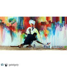 """""""Ya Salam! @galalgoly #yallagopaintkhartoum #sudan #yallakhartoum #khartoum @khaishstudio"""""""