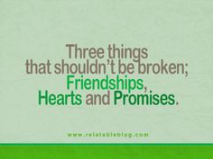 Friends, hearts, and promises