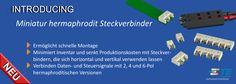 SHC GmbH - Flache hermaphroditische SMT-Miniatur-BtB Stecker