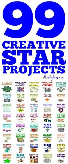 99 Creative Star Projects {Resource} by A Crafty Arab We love making star projects, tutorials, downloads or recipes, on A Crafty Arab, ever since we learned the Arab's 9th century fascination with stars. Fun Crafts For Kids, Art For Kids, Muslim Culture, Ramadan Crafts, Holidays Around The World, Dere, Artists For Kids, World Religions, Educational Activities