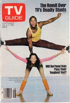 FAME actors Gene Anthony Ray & Erica Gimpel, TV Guide November 6-12, 1982