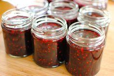 blackcurrant and raspberry jam