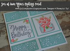 Julie Kettlewell - Stampin Up UK Independent Demonstrator - Order products 24/7: Never Ending Card