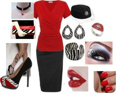 """""""red white and black"""" by patrickand-rene-wright on Polyvore"""
