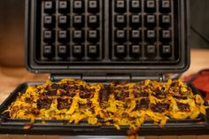 Waffle Sweet Potato Home Fries   25 Things You Didn't Know You Could Cook On A Waffle Iron