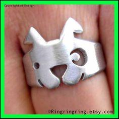 Adjustable canine animal ring
