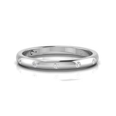 [WHY LOVE] Wedding Band Collection- Silver Diamond Band by WHYJewellery Bangles, Bracelets, Cartier Love Bracelet, Silver Diamonds, Diamond Bands, Rose Gold Plates, Pretty Woman, Wedding Bands, Gifts