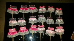 Cupcakes Toppers- little cute dresses for a ballerina bday party (Made by me)- Jessica